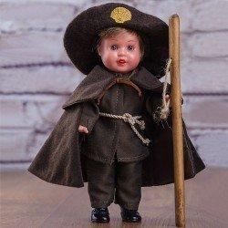 Mini bambola Juanín Pérez 21 cm - Con abito da pellegrinaggio