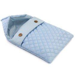 Complementi per bambola Así da 42 a 46 cm - Sacco nanna grande blu con stelle bianche