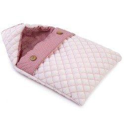 Complementi per bambola Así da 42 a 46 cm - Grande sacco a pelo rosa con stelle bianche