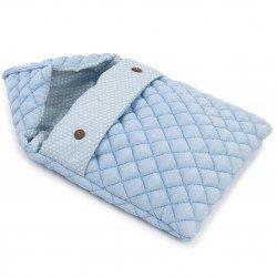 Complementi per bambola Así 36 cm - Sacco nanna blu medio con stelle bianche