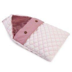Complementi per bambola Así 36 cm - Sacco nanna rosa medio con stelle bianche