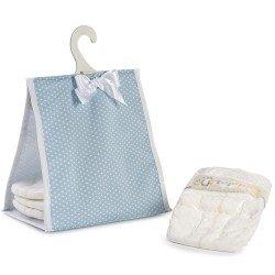 Complementi per bambola Así - Porta pannolini arpa blu con stelle bianche