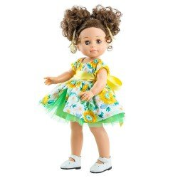 Bambola Paola Reina 45 cm - Soy tú - Emily con vestito floreale
