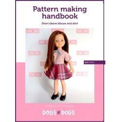 Schema scaricabile Bambole e Bambole per bambole Las Amigas - Blusa manica corta con gonna